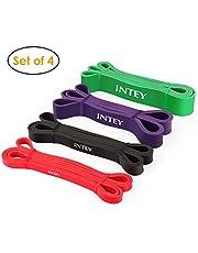 Intey Fitnessbanden Premium Resistance Band Gymnastiekband van natuurlatex weerstandsbanden als weerstand en ondersteuning voor optrekhulp met oefenhandleiding (mogelijk niet beschikbaar in het Nederlands).