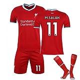 WYIILIN Camiseta de fútbol para niños, uniforme de fútbol 2021 Home Stadium No. 11 S.A.L.A.H con calcetines para adultos, color rojo