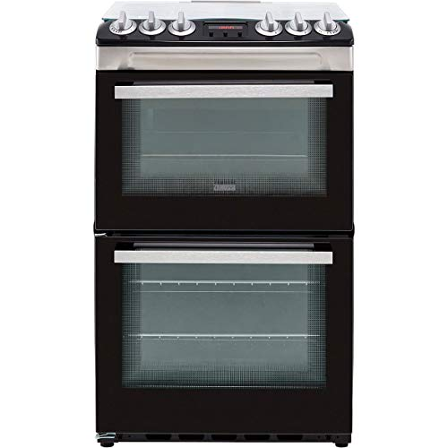 Zanussi ZCG43250XA 55cm Gas Cooker with Full Width Electric Grill - Stainless...