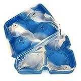 4 unids/set Diamond Ice Cube Silicona Reutilizable Ice Cube Maker Bandeja + Embudo Chocolate Molde Whisky Wine Bar Tool Accesorios de cocina B