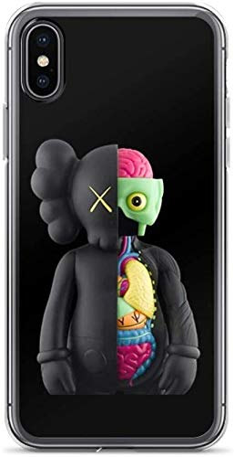 SQIANG KAWS 2 iPhone Carcasa De Telefono Case Pure Clear Anti-Scratch Shock Absorption Phone Cases for iPhone 7 Plus/8 Plus