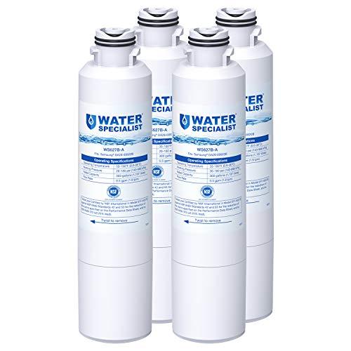 Waterspecialist DA29-00020B Refrigerator Water Filter, Replacement for Samsung HAF-CIN, HAF-CIN/EXP, DA29-00020A/B, DA97-08006A, DA2900020B, RF28HMEDBSR, RF4287HARS, 4 Filters