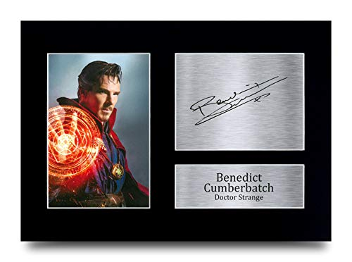 HWC Trading A4 Benedict Cumber Avengers Doctor Strange Avengers Doctor Strange Gifts gedrucktes Autogramm für TV Show Fans – A4