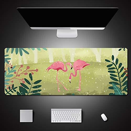 Mauspad Tastatur PC Mauspad Großer Teppich Computer Gaming Mauspad Schreibtischschutz Flamingo Muster 600x400x3mm