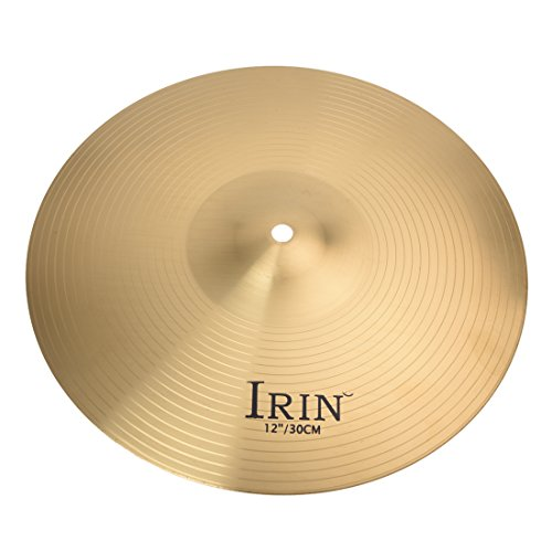 Brass Cymbals - IRIN High Quality 12' Brass Crash Ride Hi-Hat Cymbals Box Drum Set Professional