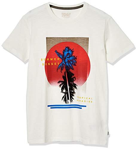 Esprit 050EE2K307 Camiseta, 110/Off White, L para Hombre