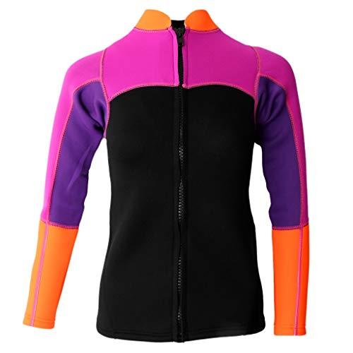 Tubayia Damen 2mm Neopren Jacke Shirt Sonnenschutz Neoprenanzug Tauchjacke für Surfen Schwimmen Wassersport