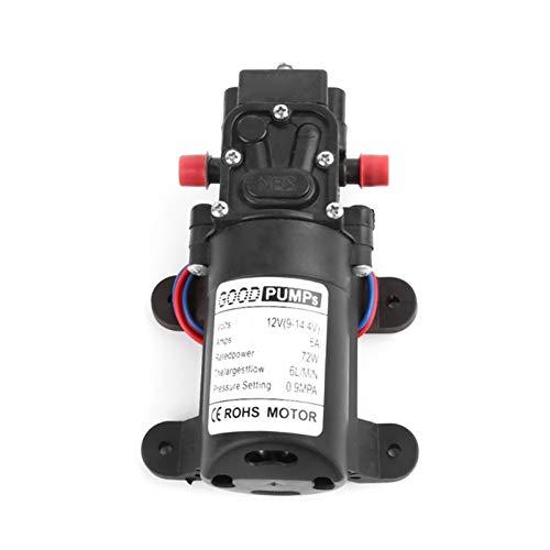 Alta calidad 2021 Nuevo 12V 72W Micro Diafragma Micro Diafragma Bomba de agua Interruptor automático Tipo inteligente para Caravana RV Barco Marina Agrícola (Voltage : Reflux Type)