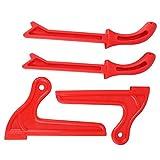 Sicherheits-Sticks aus Kunststoff, 4 Stück, ergonomisches Griff-Design, Säge, Steckstäbe, gerade, Typ V-Typ, für Tischlerei, Oberfräse, Tisch (rot)