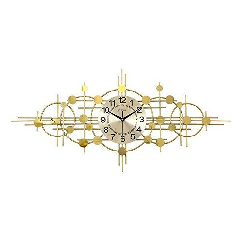 cakunmik Relojes de Pared creativos Modernos, Reloj de Metal silencioso, para Dormitorio Sala de Estar Restaurante 3D Decorativo,A