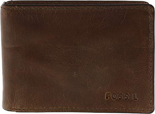 Fossil Men's Derrick Front Pocket Bifold, Brown, One Size