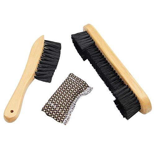 FHNLKFS Herramienta de limpieza de mesa de billar 8 pulgadas media hoja cepillo 9 pulgadas recto cuerpo cepillo de billar accesorios color natural