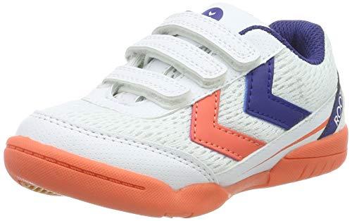 hummel Unisex-Kinder Root JR VC Handballschuhe, Mehrfarbig (Living Coral 3654), 38 EU