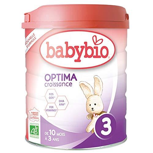 Babybio OPTIMA 3 Croissance - 3ème âge dès 10 Mois - 800g - BIO Fabriqué en France & Lait...