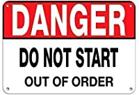 危険は故障した状態で触れないでください。金属錫標識通知街路交通危険警告耐久性、防水性、防錆性