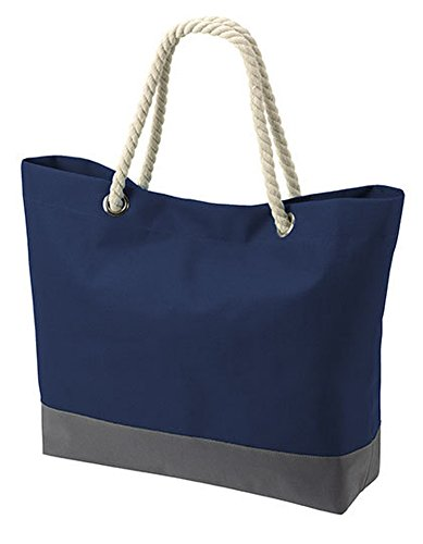 Halfar Shopper Bonny Tasche Einkaufstasche Korb Beutel Einkaufsbeutel Einkaufskorb, Farbe:Navy, Größe:60 x 40 x 14 cm