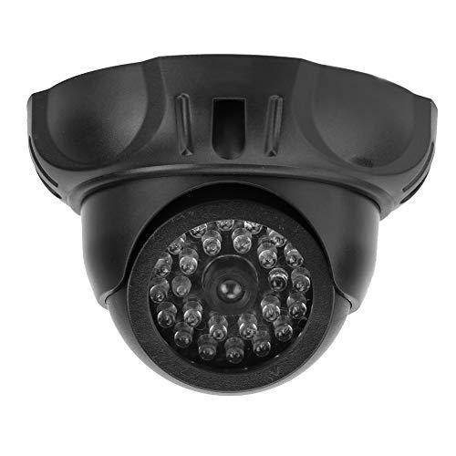 Cámara de Seguridad simulada, Seguridad de vigilancia simulada CCTV Cámara Tipo Bala Cámara de monitoreo de simulación Falsa para el hogar Cámara Domo pequeña del hemisferio