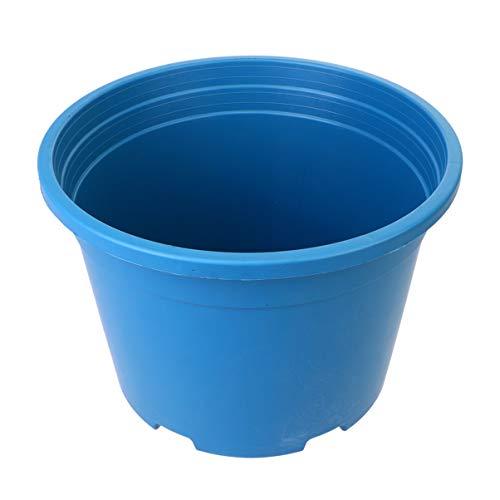 Yardwe 5 Galloni di Plastica per Piante da Vivaio Vasi da Fiori Contenitore per Piante Perfetto per Piante Grasse Talee Trapianti Trapianto Blu