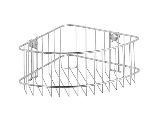 Wenko Classic Cesta Rinconera, Acero, Plateado, 19.5x26.5x10 cm