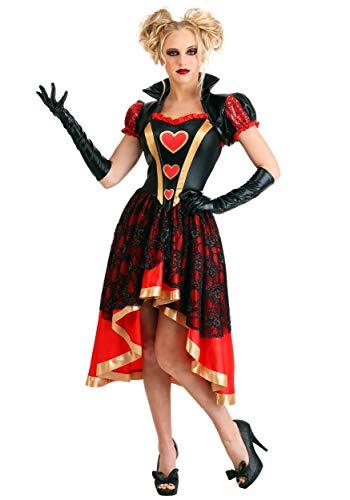 Women's Dark Queen of Hearts Costume Large