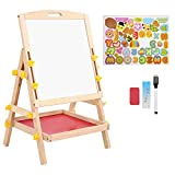 Tablero de dibujo: tablero de dibujo para niños de doble cara, tablero de pintura para niños ajustable de pie, juguete de regalo