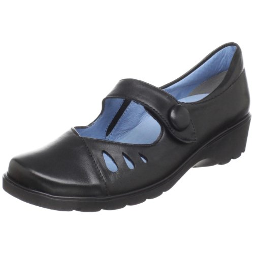 ara Women's Andros Mary Jane Flat,Schwarz Leather,7.5 W US