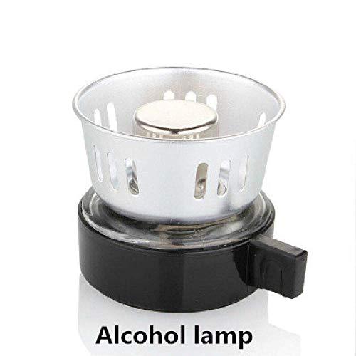 Nfudishpu Moka Coffee Pot 3 Cups Pots Coffee Kettle Pot Set Filter Coffee Maker Tea Siphon Heat-Resistant Household Pot,Gold