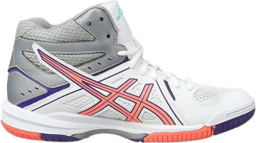 Asics Gel-Task MT, Zapatillas de Voleibol para Mujer, Blanco (White/Flash Coral/Parachute Purple), 37 EU