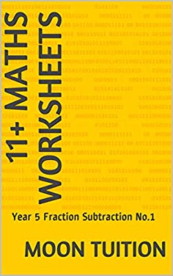 11+ Maths Worksheets: Year 5 Fraction Subtraction No.1