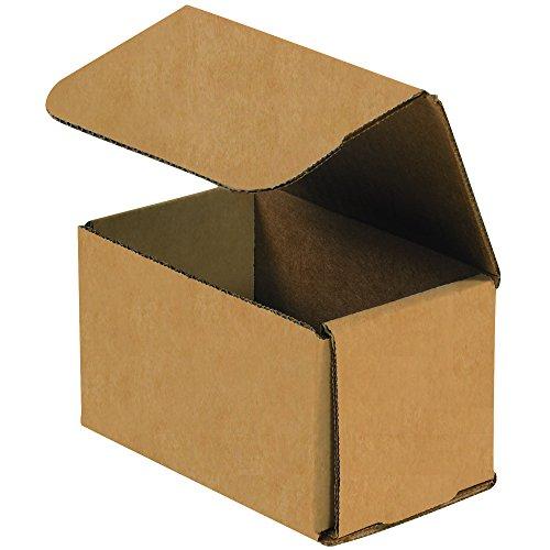 Aviditi Corrugado Cartão Mailers, 5 x 3 x 5 polegadas, Tuck Top One Piece, Cortado Cartons, Pequeno Branco Caixa de Correio (Pacote com 50)