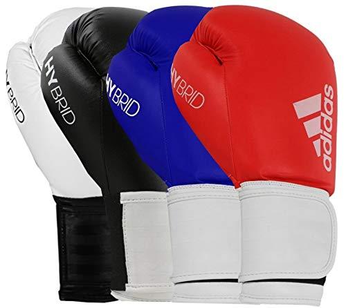 adidas Boxing Gloves Men Women Kids Sparring Training Hybrid 100 6oz 8oz 10oz 12oz 14oz 16oz Boxhandschuhe, weiß, 454 g