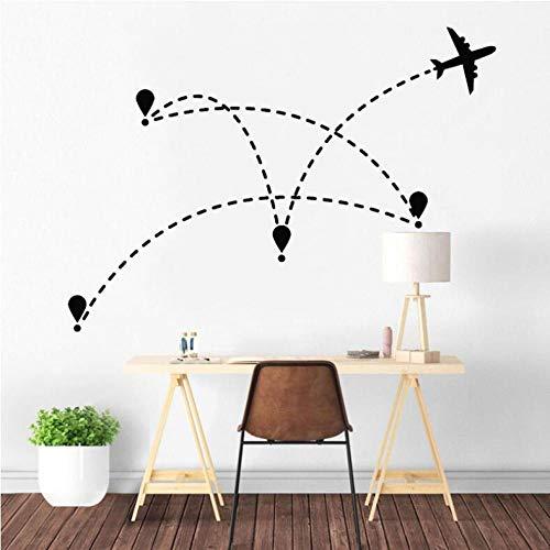 Pegatinas Etiqueta De Pared Avión Aviación Vacaciones Turismo Agencia De Viajes Mundial...