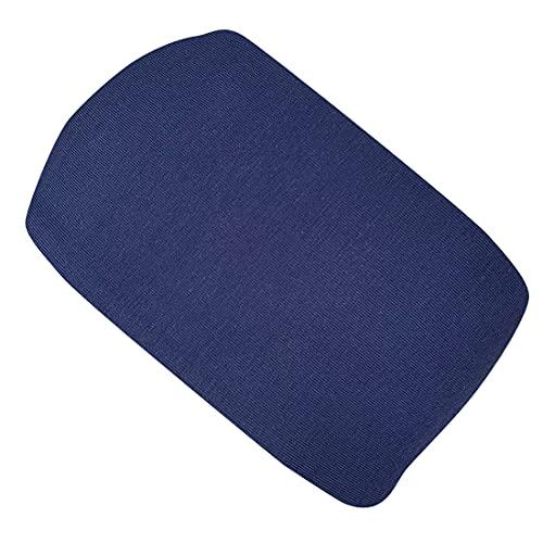 Wollhuhn Cinta elástica para la cabeza de un solo color, de dos capas, suave, 2222210, azul oscuro, Talla única