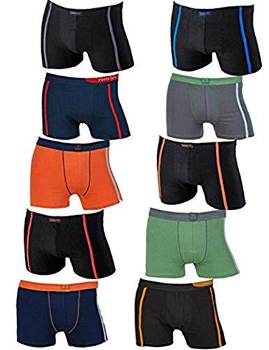 REMIXX 10 Stück Boxershorts, Retroshorts Unterhosen im Vorteilspack (L, Farbmix)