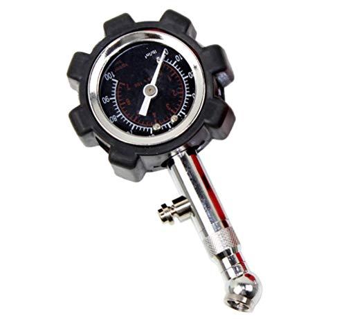 Hycy® Digitale Autoreifen Manometer Tester LCD PSI KPA BAR Hohe Präzision Pneumatische Messgerät Für Auto LKW Motorrad Bike,Black
