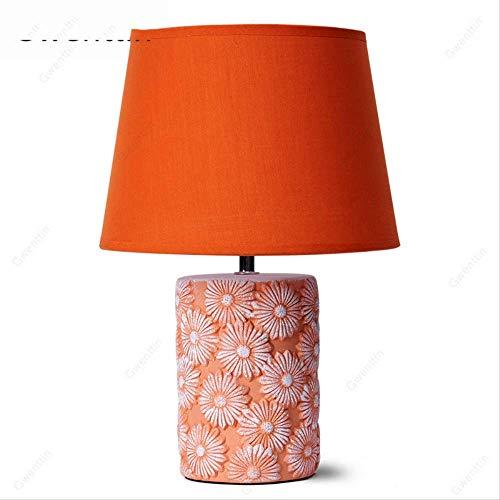 Orange Keramik Tischlampen Moderne Led Betten Art Deco Ständer Licht für Wohnzimmer Schlafzimmer Lampe Schreibtisch Stehleuchten Wohnkultur Orange