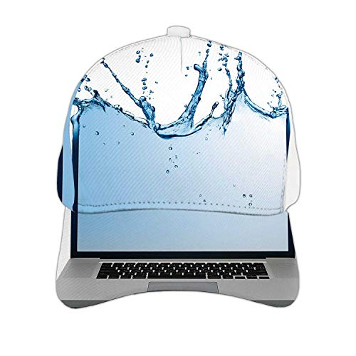 Laptop Isolated on White -,Hats & Caps Dad Hat Baseball Cap for Men,Women with Cool,Funny Designs On