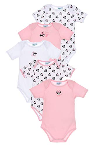 Disney Baby Bodies 5 unidades con motivos de Mickey Mouse & Minnie Mouse modelos para niñas y...