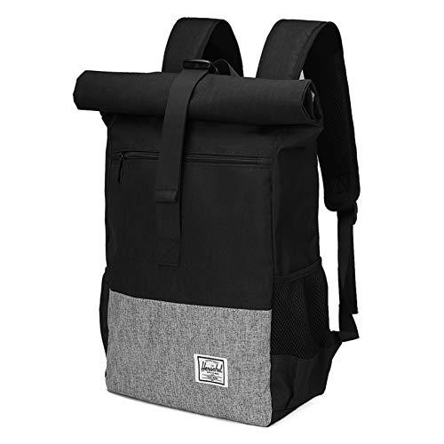 JOSEKO Laptop Backpack, Lightweight Waterproof School College Business Backpack Men Women Professional travel backpack with large capacity and USB charging port Black
