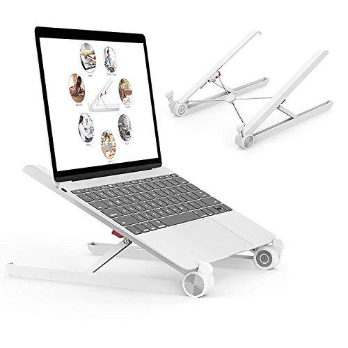 Voroly Foldable Height Adjustable Laptop Stand Eye-Level Ergonomic Laptop Riser for Notebook...