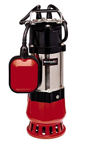 Einhell Schmutzwasserpumpe GC-DP 5010 G (500 Watt, 12.000 ltr./Std, max. Förderhöhe 8 m, Anschluss 42 mm, stufenlos höhenverstellbarer Schwimmerschalter, Edelstahl-Motorgehäuse)