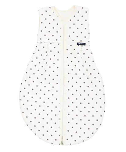 Alvi Mäxchen Thermo Schlafsack ohne Arm Dots Weiß Größe 80cm