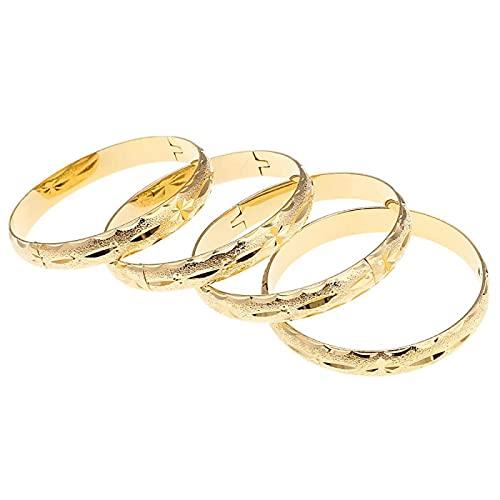 24k Gold Farbe Armreif für Frauen Dubai Braut Hochzeit Äthiopischen Armreif Arabischen Schmuck Charm Armband