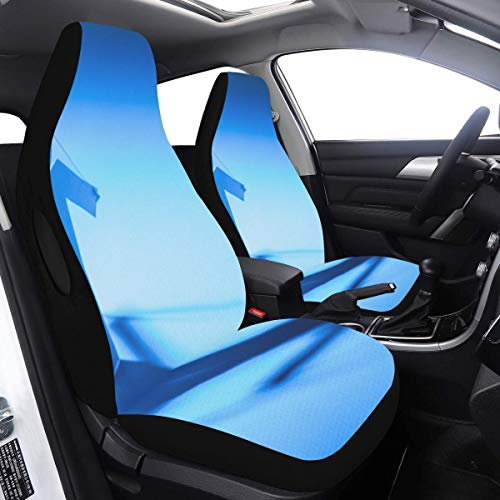 Fantastic Deal! Car Seat Cover Set Circle Joining Paper Figure Car Seat Covers Decorative 2 Pcs Univ...