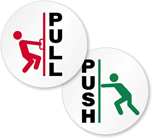 "SmartSign ""Push - Pull"" Two-Sided Glass Door Decal 