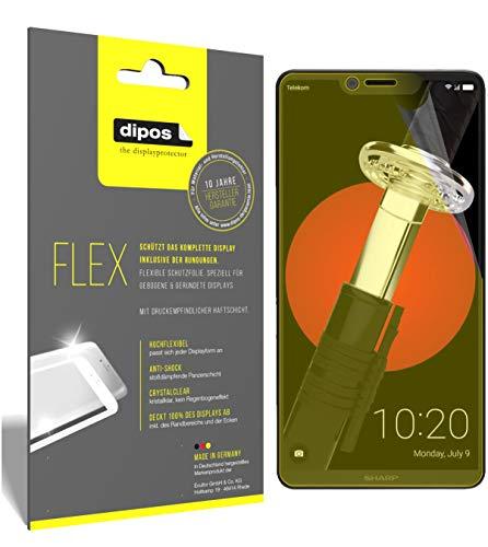 dipos I 3X Schutzfolie 100prozent kompatibel mit Sharp Aquos D10 Folie (Vollständige Bildschirmabdeckung) Bildschirmschutzfolie