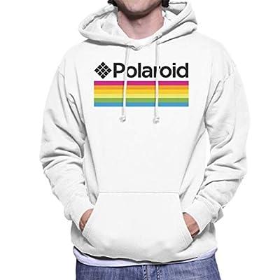 Men's Official White Polaroid Stripes Logo Hoodie