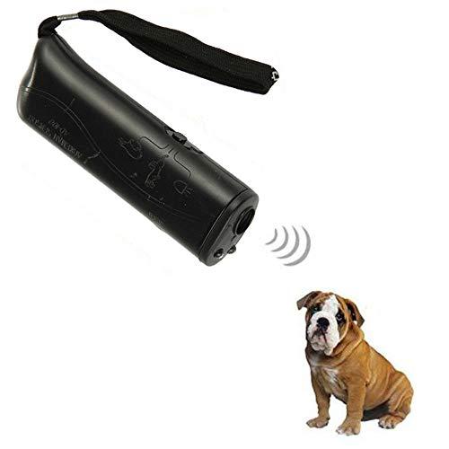 Ultraschall Hunde Repeller, 3 in 1 LED Anti-Bellen-Gerät, Ultraschall-Hundebellen Trainingsgerät für Hunde Bellkontrolle und Hunde Bellkontrolle sanft sicher