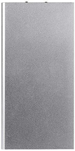 Batteria Esterna Piatta per Xiaomi Mi 9T Smartphone Tablet Caricabatterie Universale Power Bank 6000 mAh 2 Porte USB (Argento)
