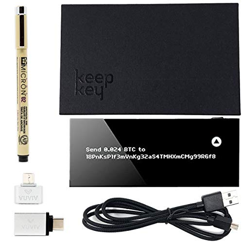VUVIV KeepKey Bitcoin Wallet Bundle Micro-USB Adapter